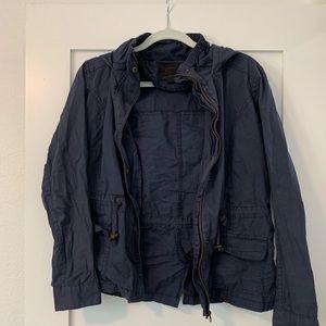 Navy Blue Cargo Jacket